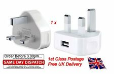 Mains Reino Unido AC enchufe de pared USB Adaptador De Cargador Para Iphone 4s 5 5s GALAXY HTC SONY