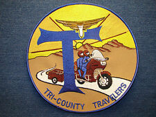Tri-County Travelers Motorcycle Large Patch Applique, Goldwing Honda Sew On