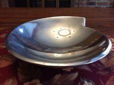 "NAMBE 10"" Alloy Spiral Bowl 1995 Smith Celentano Design Silver Pewter Like #629"