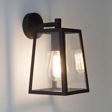 Astro Calvi IP23 outdoor external wall lantern light 60W E27 black glass