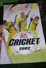 BOOKLET/MANUAL ONLY FOR CRICKET 2002 PS2 (NO GAME)-  FREE POST