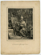 Antique Master Print-FIGURE-GENRE-PAINTER-STUDIO-Raffet-ca. 1830