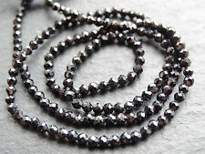 "**CLEARANCE* CUT BLACK SPINEL RONDELLES, approx 2mm, 12.5"" strand, 170 beads"