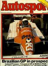 Autosport March 26th 1981 *Mike Hailwood Killed*