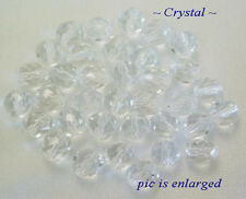 50 Crystal Faceted Round Glass Beads 8MM