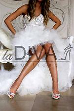 MENBUR ~ Peeptoe Pumps aus Netz mit Perlen & Strass 36 Ivory Weiß Brautschuhe