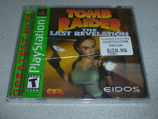 FACTORY SEALED PLAYSTATION PS1 GAME TOMB RAIDER THE LAST REVELATION BRAND NEW >>