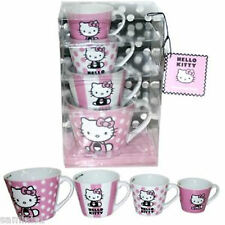 NEW~HELLO KITTY CERAMIC MEASURING MUGS (4) D/W SAFE-GREAT GIFT FOR KITTY LOVERS