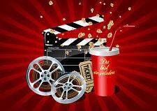 """""""KINO-EINLADUNGEN"""": 6 stilvolle Einladungskarten ins Kino zum Kindergeburtstag"""