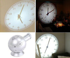 Analog Projection Clock with LED Based Projector Ball Shape Silver