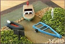 Knightwing A22 Speedboat + Trailer + Dingy + Notice/Sign Boards Kit N Gauge
