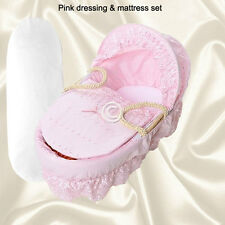Pink Replacement Moses Basket Dressing Covers Bedding + Replacement Mattress .