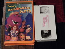 Barney's Halloween Party + Christmas Star + Night Before Christmas (VHS x3) LOT