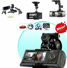 """Dual Lens HD 2.7"""" Car DVR Auto Crash CAM Camera G-sensor GPS Cam Video Recorder"""