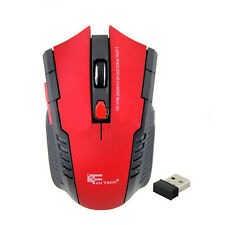 2.4Ghz Mini tragbare Wireless Optisch Gaming Mouse für PC Laptop Rot Tide