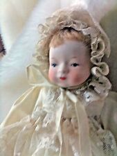 VINTAGE  BISQUE 10 INCH  BABY DOLL AMZINGLY  ADORABLE  MUST. SEE