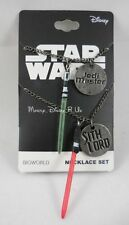 New Star Wars Best Friends Lightsaber Pendant Necklace Set Jedi Master Sith Lord