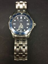 GORGEOUS OMEGA SEAMASTER MID SIZE AUTOMATIC BLUE WAVE FACE WATCH 2006