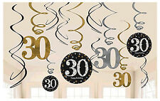 30th Birthday Swirl Decorations ~ Sparkling Celebration Party Supplies Thirtieth
