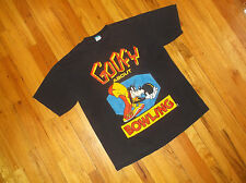 "Vtg 80's Disney Character Fashions GOOFY BOWLING Cotton T Shirt "" One Size """