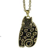 Laurel Burch Gold Sundry Cat Necklace 5030 Black $48.00/Each