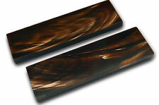 5inch Brown Buffalo Horn Scales Handle Set Pair Knife Making Blank Blade Knives