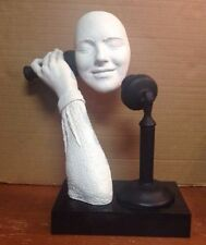 """Austin Productions Sculpture by John Cutrone """"Party Line"""" Nice Art Face On Phone"""