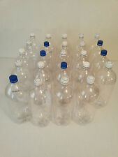 24 Empty 2 Liter Clear Bottles with Caps Art Crafting Supplies or Garden Use