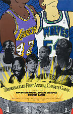 1989 Special Olympics Timberwolves Lakers Charity Game Starline Poster VERY RARE