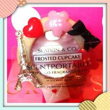 Bath & Body Works Scentportable holder Eiffel tower +frosted cupcake refill x 1