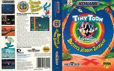 Tiny Toon Sega Mega Drive PAL Replacement Box Art Case Insert Cover Scan Repr