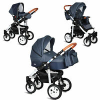 MY JUNIOR® MIYO KOMBI KINDERWAGEN 3-IN-1- 11 TEILE-SET +BUGGY & BABYSCHALE