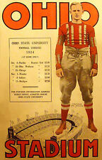 Ohio State Schedule At Home football poster 1924 11 x 17 Giclee Print