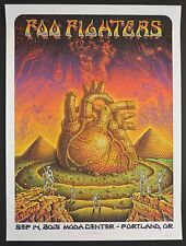 Emek Foo Fighters Portland, OR Screen Print Poster xx/400 22.5 x 30 inch