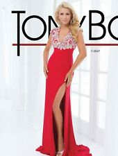 $478 NWT RED TONY BOWLS PARIS PROM/PAGEANT/FORMAL DRESS/GOWN #114547 SIZE 6