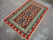 Handmade Rug Antique Vintage Turkish Kilim Art Kilims Kelim Carpet 3.6x5.6 feet