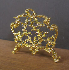 FIREPLACE  SCREEN  ~ Dollhouse Miniature ~ 1:12 scale ~ Gold Plated ~ Room Box