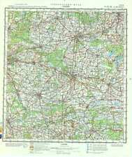 Russian Soviet Military Topographic Map – GNIEZNO (Poland), 1:200 000, ed. 1983
