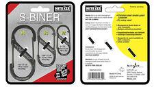Nite Ize S-Biner 3 Pack Black Size 2 3 & 4 SB234-03-01