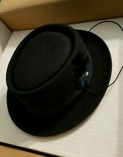 Men's Selentino prince Black Fur Felt short brim hat