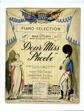 PIANO SELECTION BRITISH SHOW Sheet Music 1950 Dear Miss Phoebe HARRY PARR DAVIES