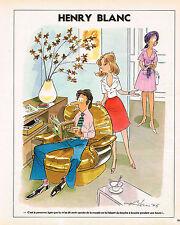 """PUBLICITE ADVERTISING 104  1976  HENRY BLANC  """" LE BOUCHE A BOUCHE"""""""