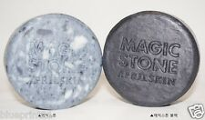(1+1) April Skin Magic Stone + Magic Stone Black Set 100% Natural Soap Brand New