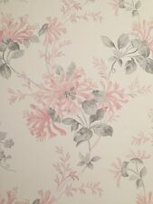 'LAURA ASHLEY' BRAND NEW WALLPAPER ROLL. HONEYSUCKLE TRAIL CYCLAMEN. PINK FLORAL
