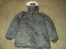 US Military N-3B Extreme Cold Weather Parka W/ Synthetic Fur On Hood MEDIUM NSN