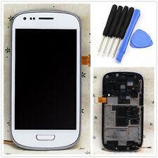 Full LCD Touch Screen Glass Digitizer Frame for Samsung Galaxy S3 Mini i8190 + T