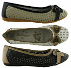 BELLISSIMO LANE LADIES/WOMENS LEATHER SHOES/BALLET FLATS/CASUAL/COMFORTABLE!