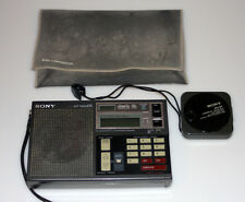 Sony ICF-7600DS Short Wave Radio with AN-6P Compact Antenna + Soft Case
