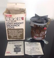 Vintage 1980's COLEMAN Peak 1 Model 400 backpack backpacking camp STOVE W/ Box