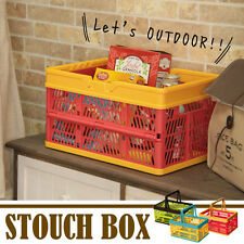 Stacking Basket Storage Box folding container Picnic Outdoor SSB-31PK Azumaya JP